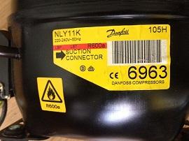 tsena moto-kompressora Danfoss NLY11K 105H6963 dlya holodilnokov