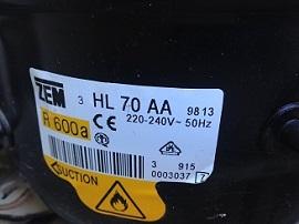 motor ZEM HL 70 AA R 600a na holodilnik
