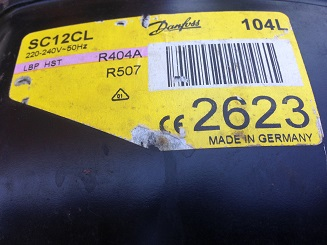 sdam v skupku holodilnyj kompressor Danfoss SC12CL 104L 2623 R404A R507