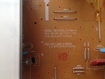 kod zakaza 51EH_XY-MAIN LJ41-10181A LJ92-01880A televizora Samsung PS51E450A1W foto