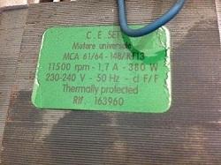 kod zakaza motora (dvigatelya) MCA 61-64-148-KT13 (163960) stiralnyh mashin Gorenje
