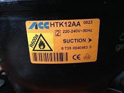 tsena kompressora ACC HTK12AA R600a 198W dlya holodilnika