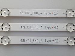 sdat v skupku planki svetodiodov LG 43LH510V