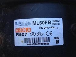 motor Electrolux ML60FB R404 R507 k holodilniku